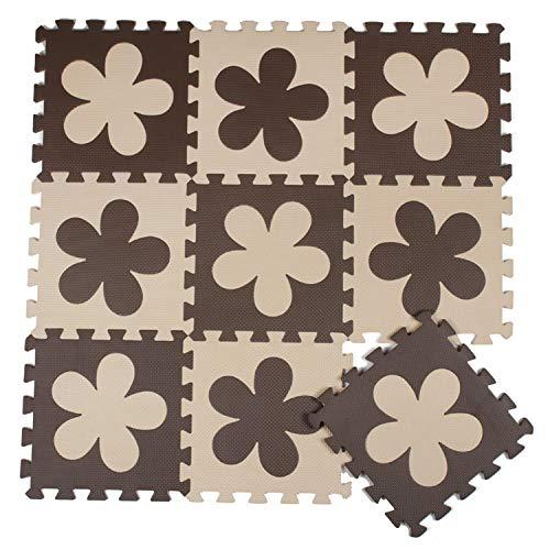 - Jim-Hugh Flower Baby EVA Foam Play Puzzle Mat 10pcs Lot Interlocking Floor Each 32cmX32cmX1CM=12