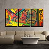 wall26 - 3 Piece Canvas Wall Art - Image of a Original Oil Painting on Canvas - Modern Home Decor Stretched and Framed Ready to Hang - 24''x36''x3 Panels