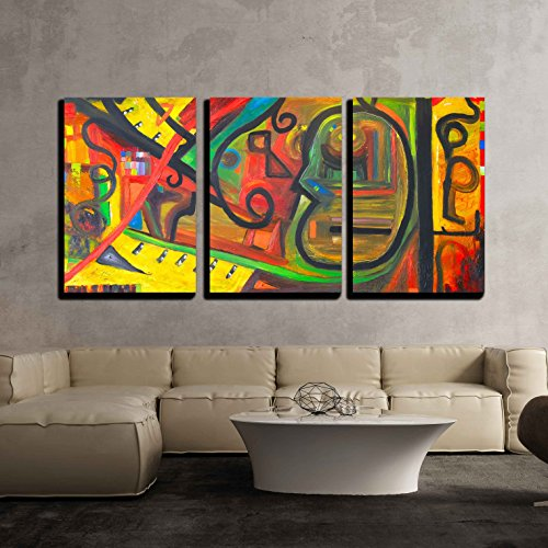 vas Wall Art - Image of a Original Oil Painting on Canvas - Modern Home Decor Stretched and Framed Ready to Hang - 24