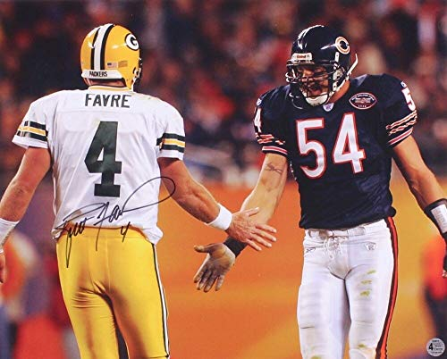 Brett Favre Autographed Signed Memorabilia Packers 16x20 Photo Favre Coa With Bears Brian Urlacher - Certified Authentic