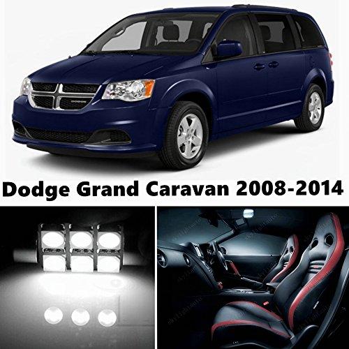 9pcs LED Premium Xenon White Light Interior Package Deal for Dodge Grand Caravan 2008-2015
