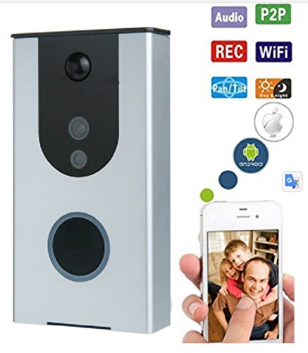Battery Powered Wi-Fi Video Doorbell Camera, Wireless Doorbell Camera with Built in 8G card, Motion Detection, Night Vision, with Two Way Audio works with Iphone and Android by Eleganci Home by Eleganci Home