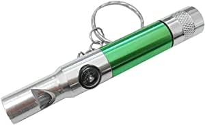 Survival Whistle 7 in 1 Multi-Use With Power Torch Camouflage SOS Army green