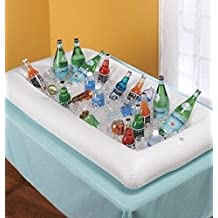 Toyofmine Inflatable Serving Bar, Buffet Salad Food & Drink Tray, Party Food Cooler with Drain Plug for Picnic & Camping