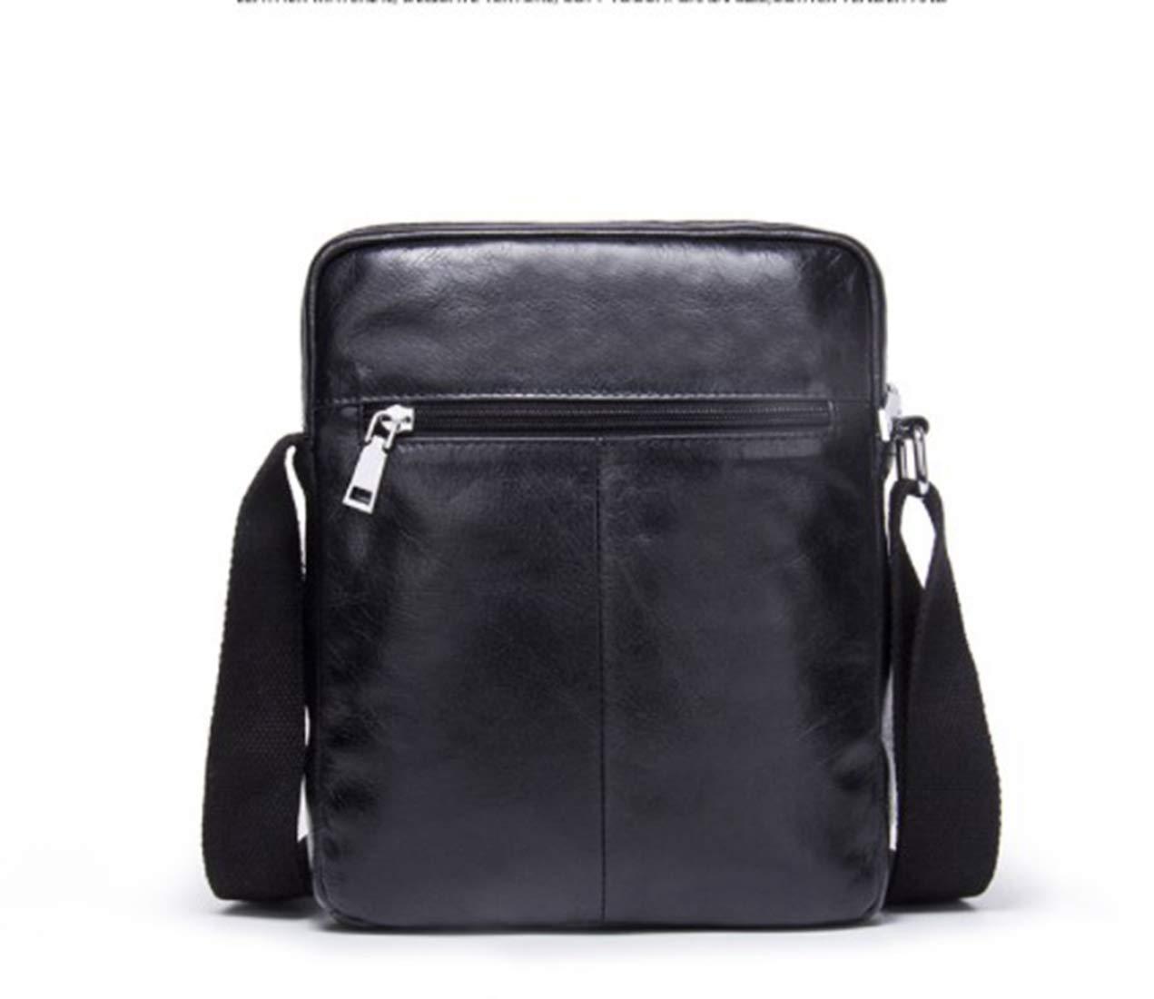 Color : Brown KRPENRIO Multiple Pocket Mens Messenger Shoulder Bag Vintage Leather Briefcase Crossbody Day Bag for School and Work
