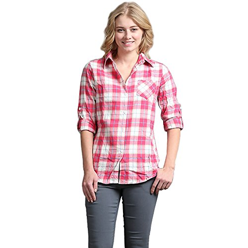 Color Swatch New Women's Fashion Loose Long Sleeve Cotton Casual Button Down Flannel Shirts S, - Swatch Sale For