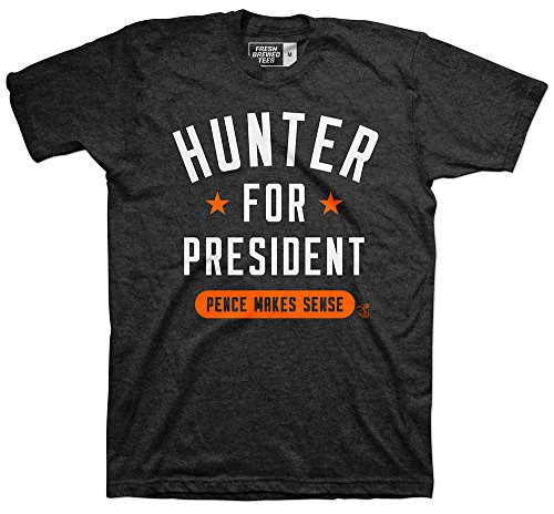 MLB San Francisco Giants Hunter Pence For President T-Shirt, Large, Vintage Black Triblend