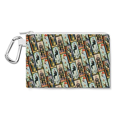 - Haunted Mansion Stretch Paintings Canvas Zip Pouch - Small Canvas Pouch 7x5 inch - Multi Purpose Pencil Case Bag