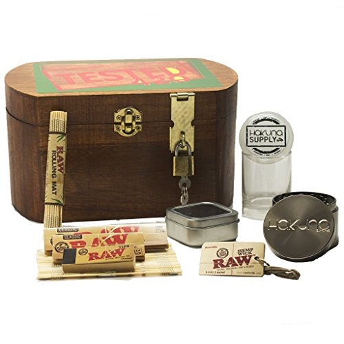 XL-Wooden-420-Stash-Lock-Box-10-Pc-Smoke-Accessories-Bundle-420-Raw-Accessories-Bundle