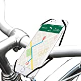 OTG-Strap (On The Go Strap)- Bike mount Phone holder or GPS Easy-Mount. Bicycles, Steering wheel, Golf & Shopping carts, Strollers and more! Fits all mobile devices! (Black)