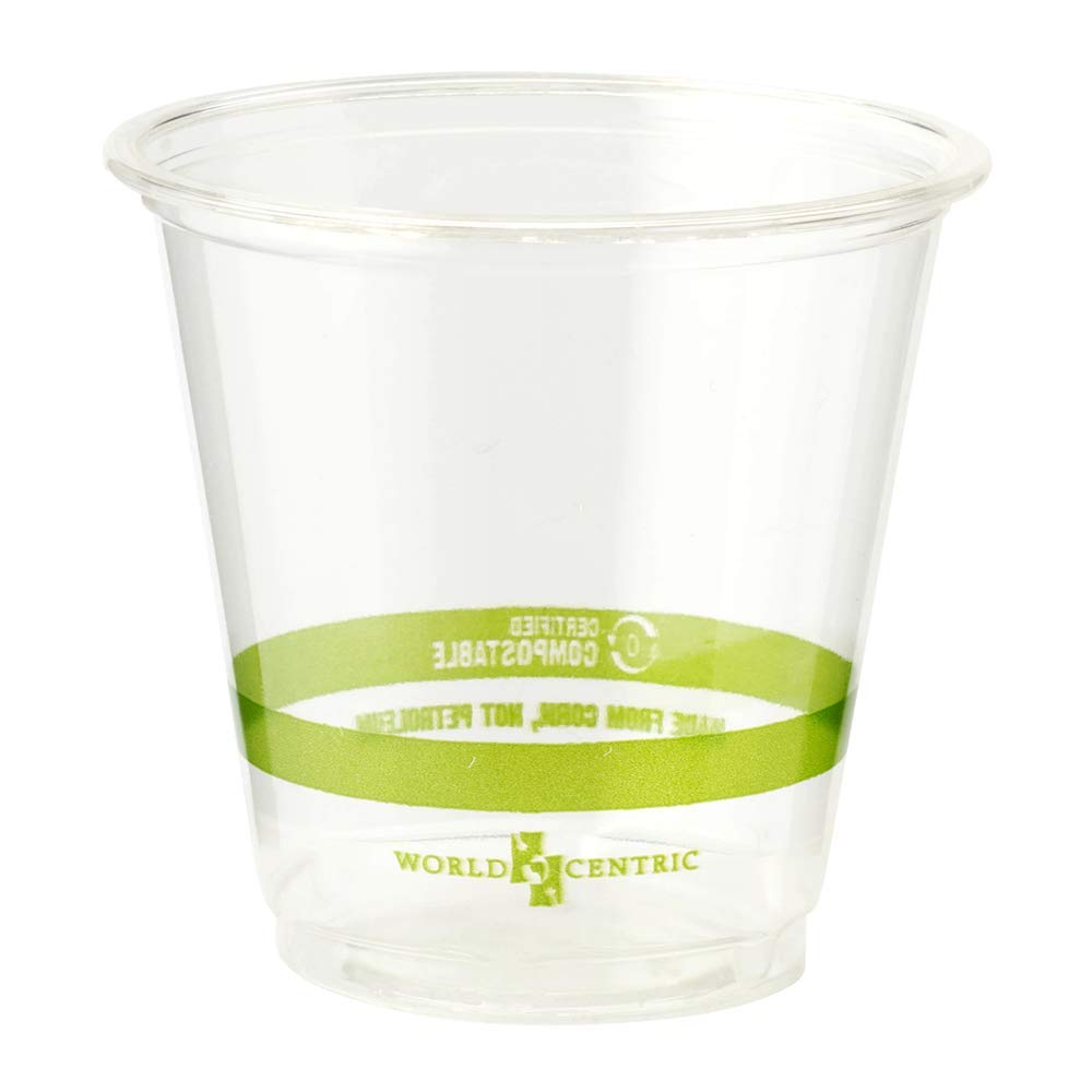 3 ounce (pack of 2500) World Centric CP-CS-3 100% Compostable Ingeo Cold Cups, 3 oz, Clear (Pack of 2500)