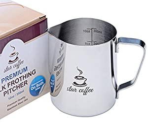 Star Coffee Stainless Steel Milk Frothing Pitcher by Star Coffee