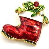 HuaYang Nouveau broche en alliage pour la soirée Noël cadeau de Noël(Pattern: chaussure)
