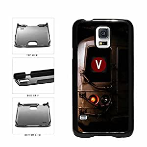 Personalized NYC Train Custom Letter V Plastic Phone Case Back Cover Samsung Galaxy S5 I9600