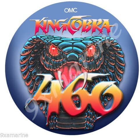 "OMC 460 King Cobra 7/"" Sticker"