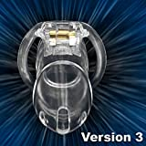 Clear Small Male Chastity Belt Chastity Device Holy Trainer V3 Male Chastity Cage Device Bondage Fetish,transparents,Standard