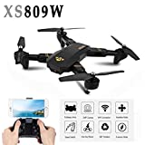 Leewa@ XS809HW 2.4G 4-Ch 6Axis Foldable Mini RC Selfie Drone Wifi Real Time FPV with 2MP 120° FOV