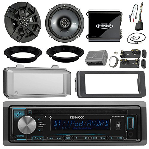 Kenwood KDCBT22 CD Receiver Bundle / 2 Kicker 6.5