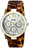 XOXO Women's XO5509 Gold-Tone Dress Watch with Tortoise-Tone Bracelet