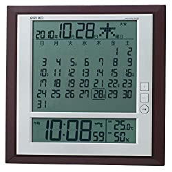 SEIKO CLOCK six day display digital radio clock SQ421B (Seiko clock) wall clock table clock combined monthly calendar function by Unknown [Japan import]