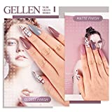 Gellen Gel Nail Polish Set - Nude Grays 6