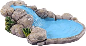 keaiduoa 3D Creative Natural Micro Landscape Ornament Mountain Water Fairy Garden Decoration House Home Gift