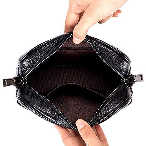 Tendencia Para Nuevos Teléfono Cuadrado Muñeca De Bolsos Casual Pequeños Bolso Black Mini Pequeño Móvil Damas Bandolera ppyar57wqx