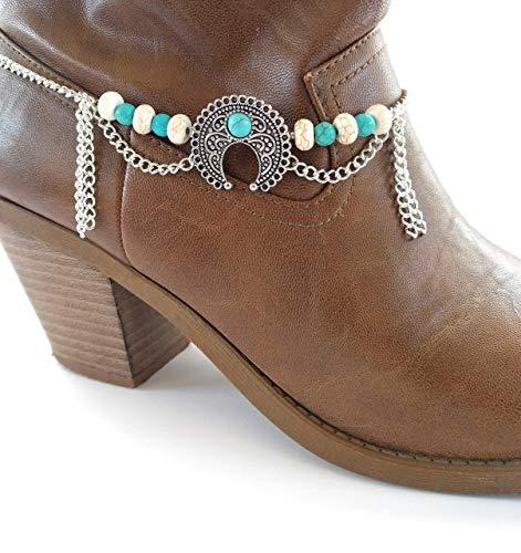 Squash Blossom Naja Boot Bracelet Adj 16 Inch