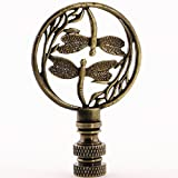 Double Dragonfly Lamp Finial in Choice of Finishes - 2.75 Inches High (Bronze)