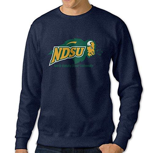Bekey Men's North Dakota State Thunder Hoodie Jacket Size L Navy