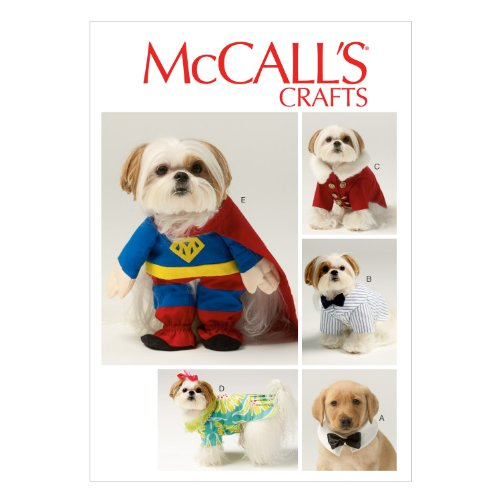 McCall Pattern Company M6862 Pet Clothes and Costume Sewing Template, All Sizes
