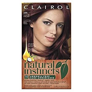 28. Clairol Natural Instincts, 4RR / 20R Malaysian Cherry Dark Red, Semi-Permanent Hair Color, 1 Kit