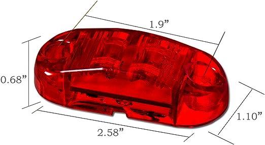 4 Pcs WildAuto Led Cami/ón Luces De Posicion Lateral Luces Galibo Para Cami/ón Remolque 2.5 Pulgada 2 LEDs 12 V//24 V