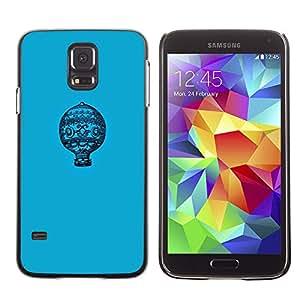 Cubierta protectora del caso de Shell Plástico    Samsung Galaxy S5 SM-G900    Blue Pattern Minimalist Flight @XPTECH