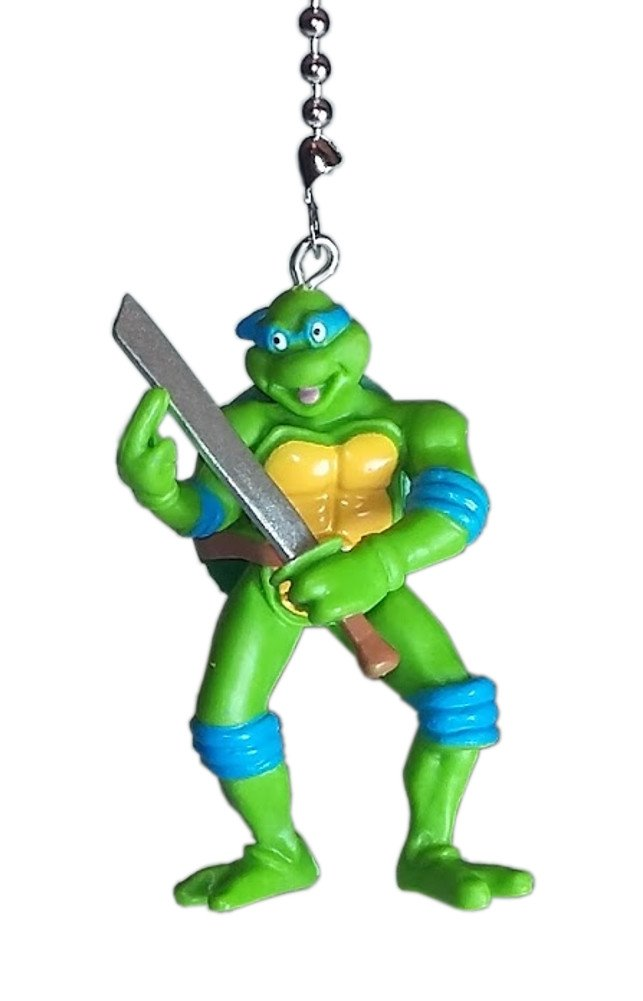TMNT Teenage Mutant Ninja Turtles Ceiling Fan Pulls by Wooden Androyd Studio (Leonardo Blue)