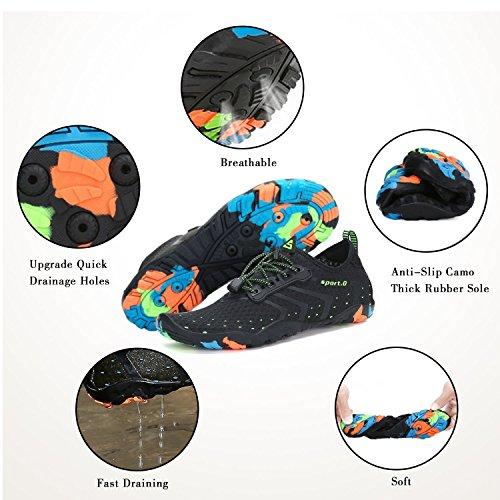 5 de Hombre Deportes Mujer para Agua negro Escarpines Zapatos WYSBAOSHU 6c5w8qFa