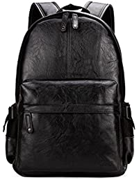 Man Leather Backpack Laptop Bag For 15.6inch Business Backpack For Men
