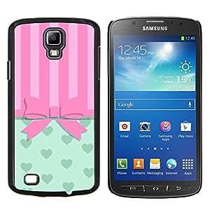 BearCase / Cubierta de protección Caso duro de la contraportada de Shell Plástico /// Samsung Galaxy S4 Active i9295 /// Arqueamiento Pink Hearts Líneas