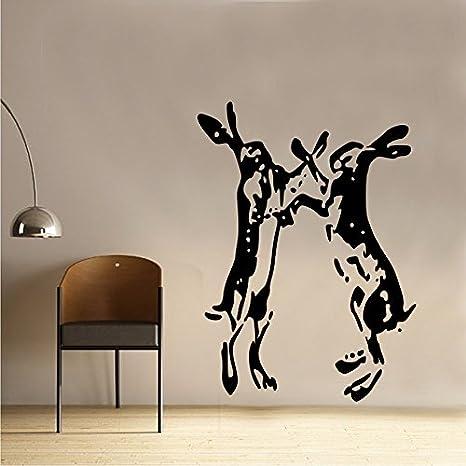 Hare Rabbit Running Rustic Vintage Shabby Chic Wall Sticker Art SC013