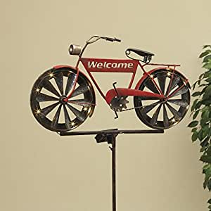 Amazon com : Gerson Antique Bicycle Wind Spinner & Solar