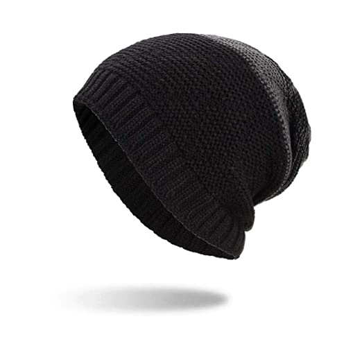 5f7cf693d39 iYBUIA Women Men Warm Baggy Weave Crochet Winter Wool Knit Ski Beanie Skull  Caps Hat(