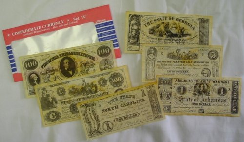 Civil War Currency - Confederate Currency Set A