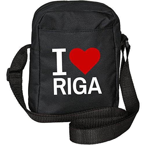 Umhängetasche Classic I Love Riga schwarz
