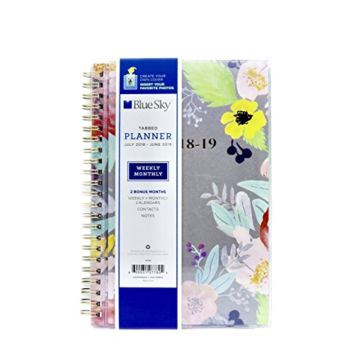 Blue Sky Create Your Own July 2018-June 2019 Wirebound Planner Sophie/Nicole Weekly/Monthly (5 x 8) (Weekly Wirebound Flexible)