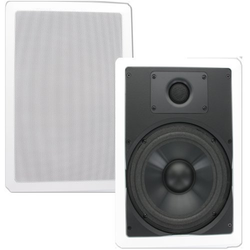 Theater Solutions CS8W 8-Inch Polypropylene In Wall Speakers (White) by Theater Solutions