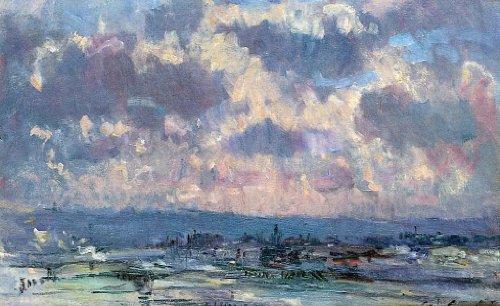 Oyster Server - Albert Lebourg The Seine and the Faubourt Saint-Server, Sky Study - 18.1