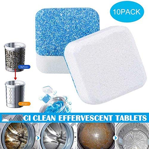 10Pcs Dish Washing Machine Cleaning Effervescent Tablets Cleaner Deep Descaler