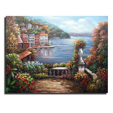 wholesale dealer cfacf 43370 wss Hand Tesa in Painting of Landscape - The Free Shipping (0.695-la-80)   Amazon.co.uk  Kitchen   Home