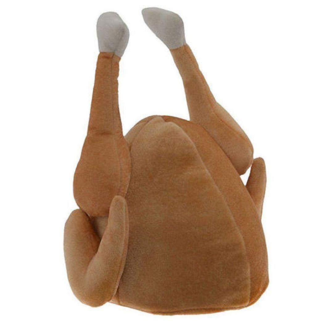 MAMOIU Unisex Casual Soft Solid Turkey Shape Hat for Thanksgiving Day Skullies & Beanies Turkey Hats