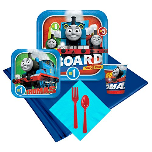 (BirthdayExpress Thomas The Train Engine All Aboard Childrens Party Supplies Pack - 24)